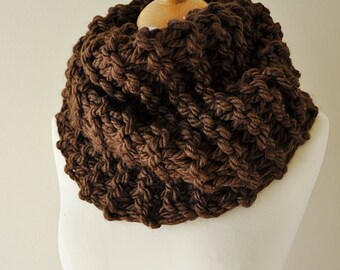 Brown Outlander Claire Inspired Knit Cowl - Choice Of Trending Colors