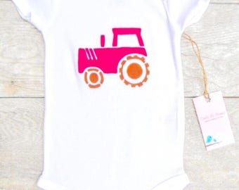 Children Farm Tractor Construction Truck Toddler T-Shirt or Baby Onesie
