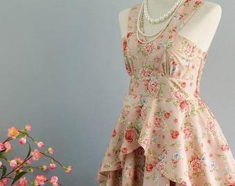 30% SALE Roses Petal - Summer's Whisper Collection Spring Summer Sundress Floral Pink Party Dress Wedding Bridesmaid Dresses Floral Tea Dres