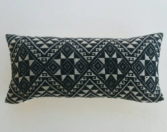 Vietnamese Blanket Throw Pillow - Boho Hmong Pillow Cover - Tribal Cushion Cover