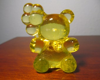 Vintage Patrick Boyd Glass Company Vaseline Bear With Balloons