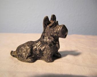 Vintage Pewter Scottie Dog
