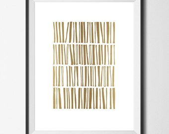 Gold Art Print Gold Printable Faux Gold Print Gold Foil Print Gold Print Geometric Gold Art Stacked Golden Books Line Wall Decor Library Art