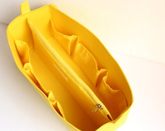 Extra large Bag organizer- Purse organizer insert in Sunflower yellow fabric