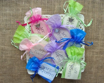 TOOTH FAIRY Pouch - Your Choice of Color and Charm