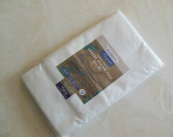 Standard Size Pair White Pillow Cases, New In Package, Old Stock