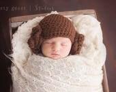 Princess Leia hat, star wars photo prop, princess Leia costume, halloween costume, baby girl hats, princess leia inspired hat
