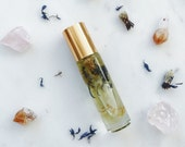 Zen Roller Bottle Blend w/ dried flowers and Crystals