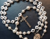 Custom Personalized Rosary Beads, Family Prayer Beads, Personalized Rosary, Unique Gift Rosary with Names, Our Lady of Divine Providence