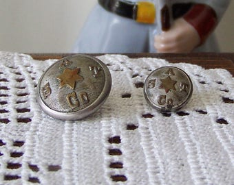 Antique Coat Buttons The Bloch Co Clev'l'd O Nickel on Brass Buttons S A T Co Coat Buttons ca. 1910