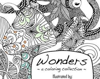 Wonders Coloring Book Original Whimsical Fantasy Art Adult Kids