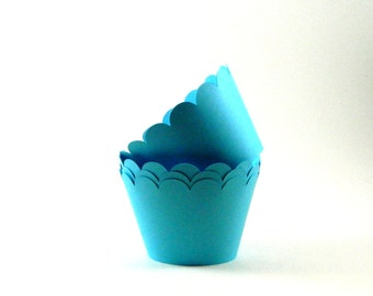 Sky Blue Cupcake Wrapper Party Supplies Table Decor
