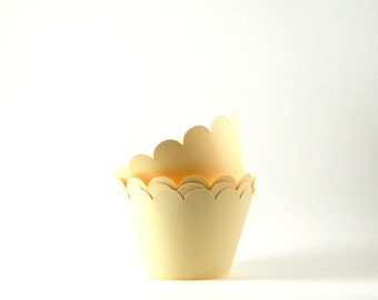 Ivory Cream Cupcake Wrapper Party Supplies Table Decor