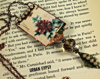 Nature Inspired Asian Inspired Vintage Design Urban Gypsy Handcrafted Boho Pendant Necklace