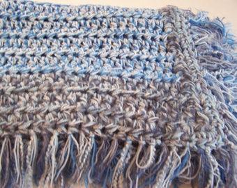 Crochet Blanket - Cuddly Throw - Cuddly Crochet Blanket - Cuddly Blanket - Crochet Throw - Crochet Afghan - Throw Blanket - Colorful Throw