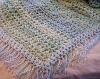 Crochet Blanket - Crochet Afghan - Baby Blanket - Crochet Throw - Blanket - Throw - Cuddly Blanket - Cuddly Throw - Pastel Blanket - Throw