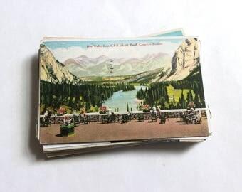SALE 52 Vintage Used Canada Postcards