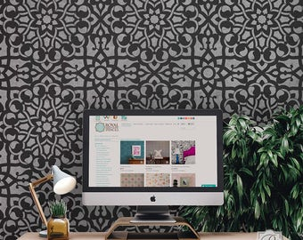 Zahara Large Stencil for DIY Wallpaper Look