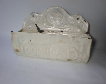 Vintage Antique Primitive Tin Matchbox