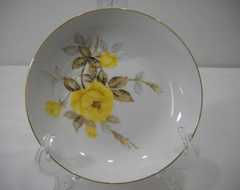 """Cotillion by Japan 7 1/2"""" Coupe Soup Bowls Yellow Rose Free Shipping"""