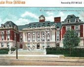 20% OFF Staten Island Borough Hall Postcard, St. George, New York City NYC, Antique 1914 Color Ephemera, FREE Shipping