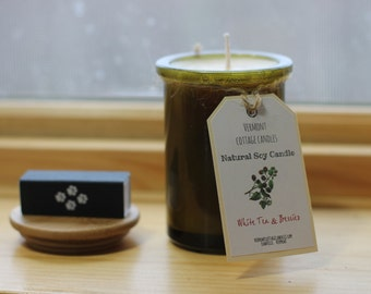 Handpoured Natural Soy Candle Recycled 6oz Jar-Vermont Candles