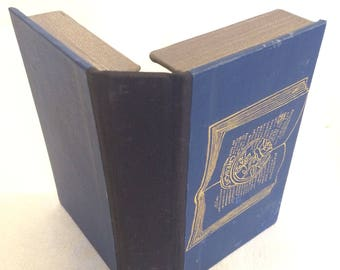 Business card case.  Recycled book cover clamshell -fits standard business cards