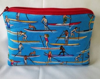 Paddling longboard Small zipper coin pouch