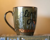 Tolkien - Elvish Greeting - A star shines on the hour of our meeting - Hand-Painted Ceramic Mug