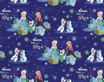 Springs Creative. Frozen Snow Ice And Everything Nice - BTY Cotton Fabric - Choose your cut