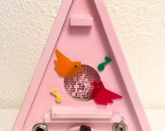 Vintage Cigar Box Electric Guitar Amplifier Amp little pink birdhouse is ready to Rock You