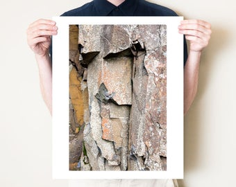 Geology print, modern abstract artwork, geological art. Stone art, textured wall art, fine art photography print. Large rustic home decor