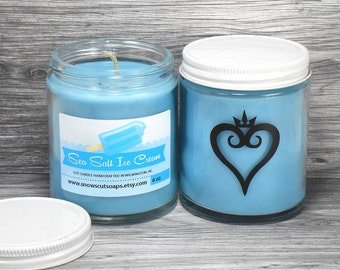 Kingdom Hearts Candle - Sea Salt and Vanilla Soy Candle