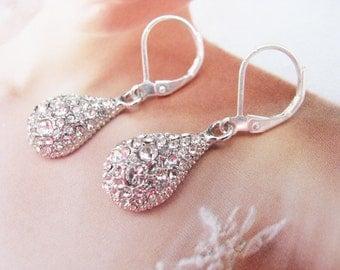 wedding earrings, wedding jewelry, crystal earrings,statement earrings, swarovski earrings, bridesmaid earrings, rhinestone earrings