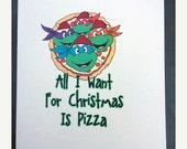 CYBER MONDAY SALE Tmnt Christmas Card