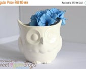 SALE Kitchen Utensil Holder | Large Owl Utensil Holder | Ceramic Pot | Owl Canister