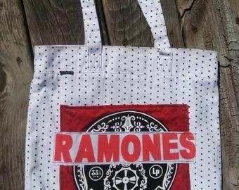 Ramones tshirt tote bag polka dot records High Fidelity Funky Remnants