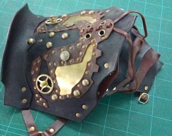 Large Fancy Leather Pauldron/Shoulder Armor