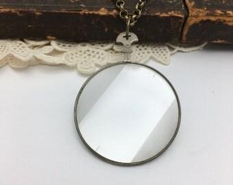 Optical Lens Necklace Vintage Necklace Monocle Necklace