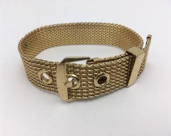 Vintage Mesh Belt Buckle Bracelet Vintage Bracelet Avon Bracelet