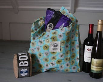 Reusable Shopping Bag, Reusable Grocery Bag, Shopping Tote Bag, Eco Friendly Bag, Fabric Shopping Bag, Market Tote, Organic Cotton, Green