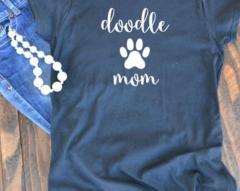 doodle mom t-shirt  - Labradoodle - Goldendoodle woman's graphic t-shirt - dog mom