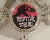 Jurassic Park inspired ID Badge Reel Clip
