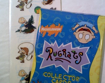 Rugrats Trading Cards and Sticker Set- Set #1
