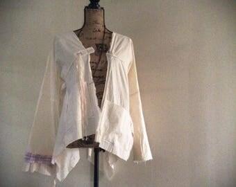 Unique Kimono zen monk japanese style jacket robe handmade jacket cotton kimono
