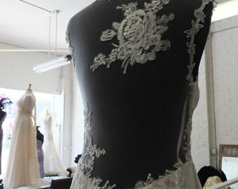 Silk chiffon boho hippie wedding dress beach fairy bridal gown