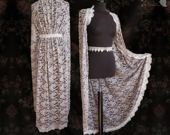 Cloak lace, silver grey, wedding cape, ethereal, angelic, lace,Manes, Somnia Romantica,approx size medium, see item details for measurements