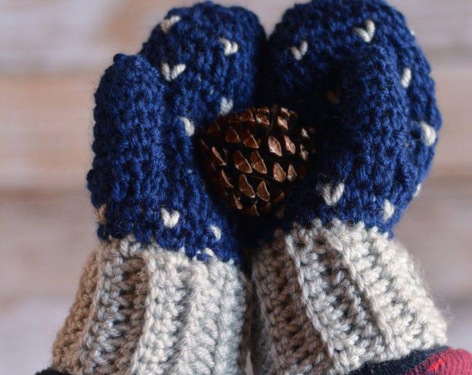 Snowfall Mittens Crochet Pattern PDF  DIGITAL DOWNLOAD