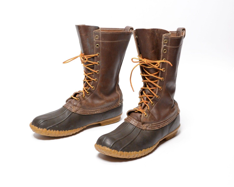 vintage 70s l l bean boots maine shoes duck boots