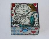 Alice In Wonderland Jewellery Box, Hand Painted Trinket Box